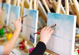 Paint and Sip for a Hen Party