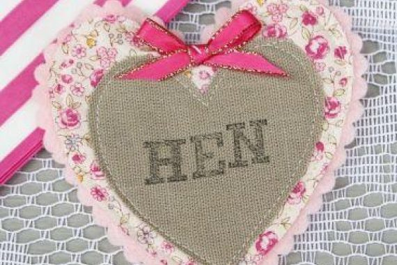 Badge hessian hen