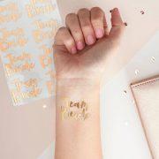 Team Bride Temporary Tattoos