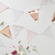 Rose Gold and Floral Bunting