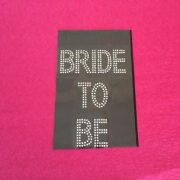 Diamante Bride to Be TShirt