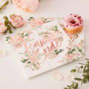 Team Bride - Floral Napkins