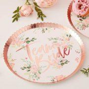 Team Bride - Floral Paper Plates