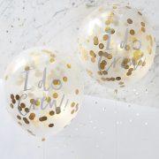 'I do' - Gold Confetti Balloons