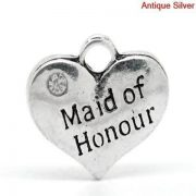 Maid of Honour Wine Glass Charm
