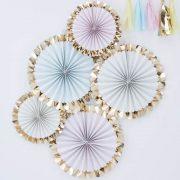 Pastel Foiled Pinwheel Decorations