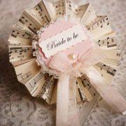 Vintage Bride to Be Rosette