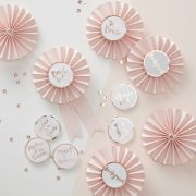 Team Bride : Pink and Rose Gold Hen Party Badges