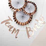 Team Bride - Backdrop - Rose Gold