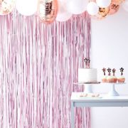 Pink Party Fringe Curtain